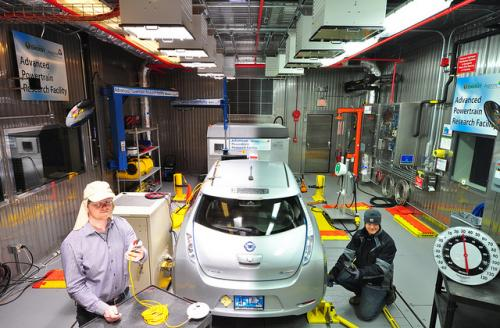 Turning up the heat: Argonne's thermal cell facility puts vehicles to the test