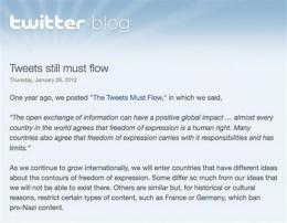 Twitter may censor tweets in individual countries (AP)
