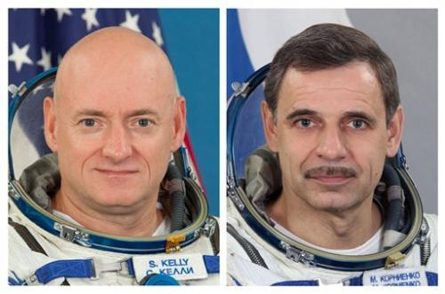 US twin astronaut, Russian to spend year in orbit