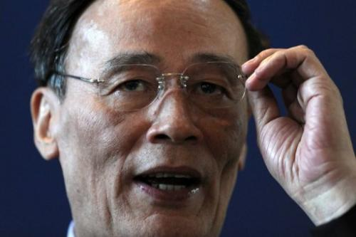Vice Premier Wang Qishan, pictured on September 8, 2011
