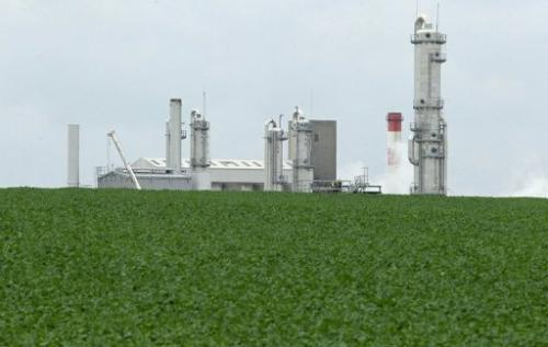 View of a biorefinery in France