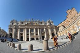 View of St Peter's basilica at the Vatican