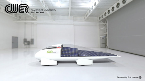 Eco Race team launch their 2013 solar-powered vehicle