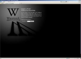 Wikipedia shut down for 24 hours on Wednesday to protest the legislation