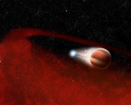 WISE discovers mystery dust around a dead star with a close companion