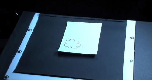 Research team turns real paper into changeable display medium