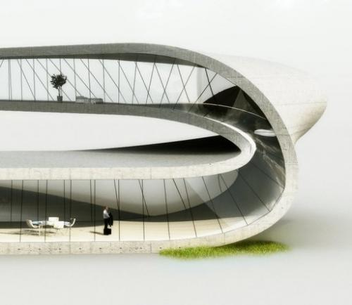 A computer generated image shows a house designed by Universe Architecture on January 14, 2013