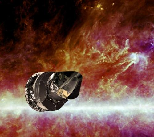 An artist's impression of the Planck spacecraft, released by the ESA on April 20, 2010