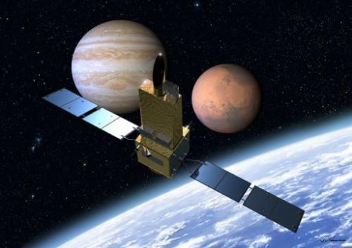 An illustration image of Japan's atronomical observation satellite 'Sprint-A'