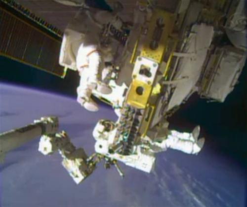 Astronauts complete rare Christmas Eve spacewalk