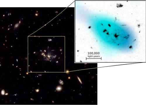 Astronomers spy on galaxies in the raw