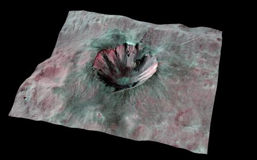Carbon in Vesta's craters