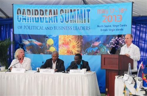 Caribbean talks conservation on Branson's island