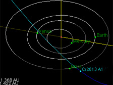 Collision course? A comet heads for Mars