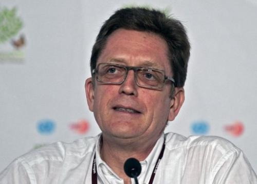 European Commission climate negotiator Artur Runge-Metzger speaks on November 29, 2010 in Cancun