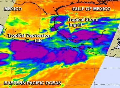 Friday the 13th brings double tropical trouble to Mexico