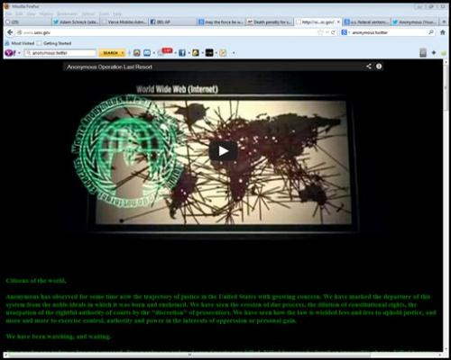 Hackers take over US sentencing commission website