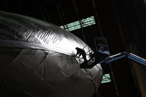 High-tech cargo airship being built in California