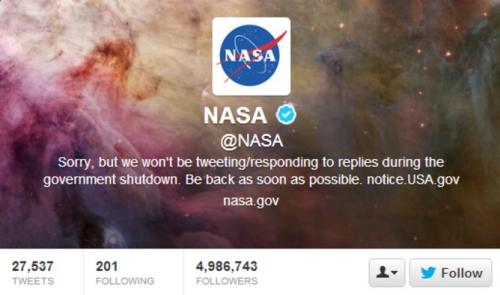 How Twitter fans kept NASA alive during the US shutdown