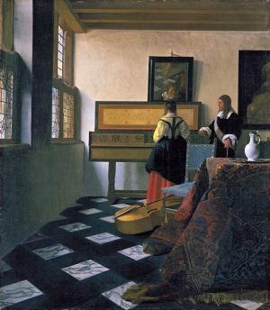 Inventor creates replica of Vermeer painting using modified camera obscura
