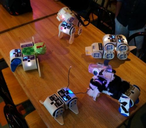 Linkbot learners can build robots on all levels