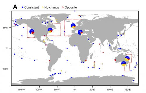 Marine life spawns sooner as oceans warm