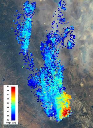 NASA 'eyes' dissect California's massive rim fire