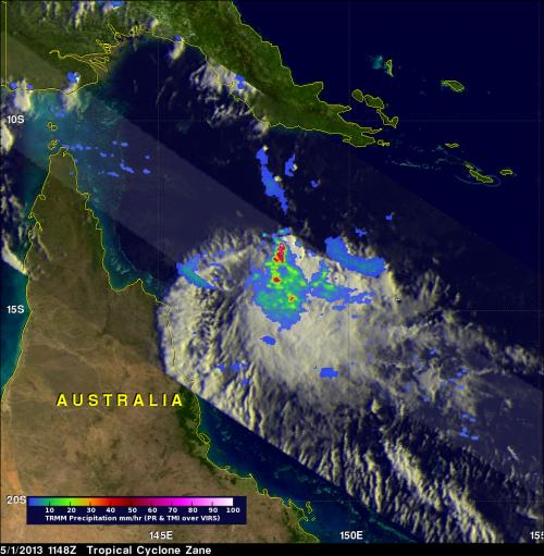NASA measures rainfall as Cyclone Zane approaches Queensland, Australia