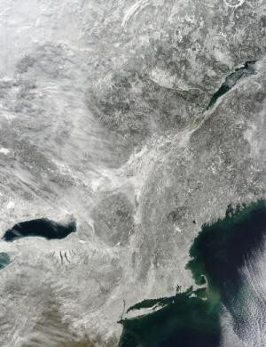 NASA provides satellite views of nor'easter lifespan