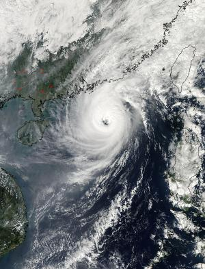 NASA saw heavy rain in Typhoon Krosa before it hit wind shear