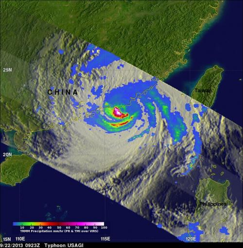 NASA sees deadly typhoon usagi hit southern China