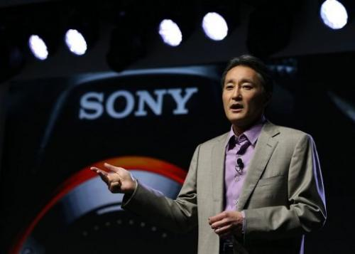 Sony CEO Kazuo Hirai gives a press conference at Las Vegas Convention Center on January 7, 2013