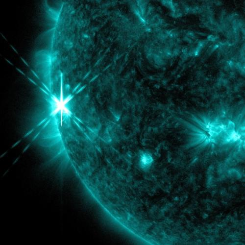 Sun emits third solar flare in two days