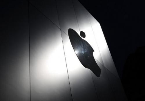 The Apple logo is displayed on the exterior of an Apple Store on April 23, 2013 in San Francisco, California