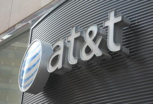 The AT&T logo is seen on June 2, 2010 in Washington DC