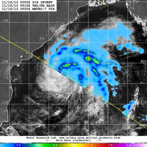 Tropical Cyclone 04B forms in northern Indian Ocean