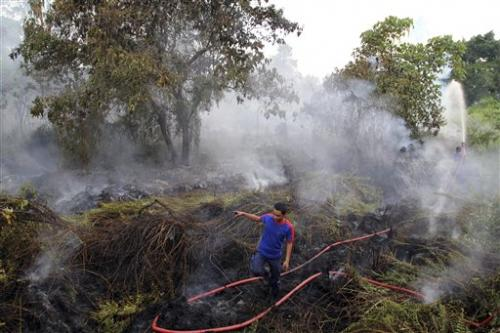 Indonesia sends planes to fight haze-causing fires