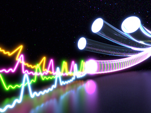 10 times more throughput on optic fibers