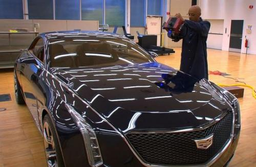 Cadillac Elmiraj sculpted with 3D scanning
