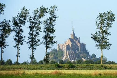 This picture taken on July 11, 2013 shows Mont Saint-Michel, a UNESCO world heritage site in northern France