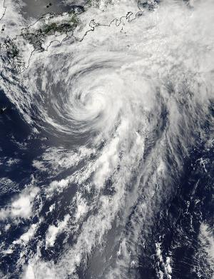 NASA satellite sees Tropical Storm Yagi just south of Japan