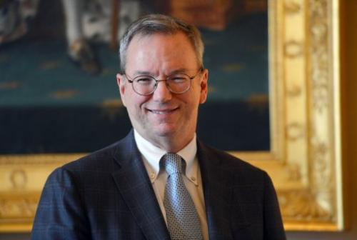 Google chairman, Eric Schmidt, pictured during a visit to Paris, on October 29, 2012