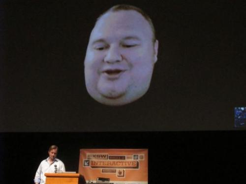 Megaupload founder Kim Dotcom appears March 11 2013 via Skype video link from New Zealand