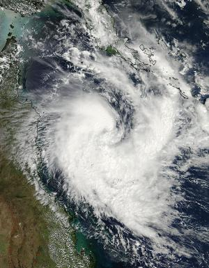 NASA sees Cyclone Tim develop in the Coral Sea