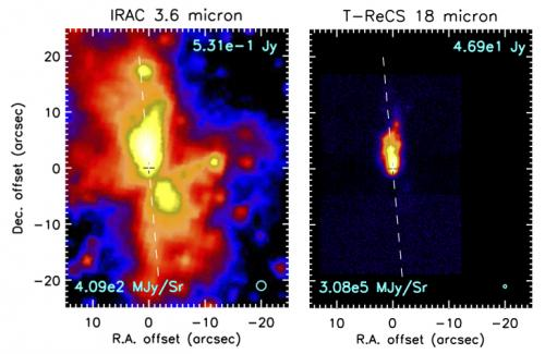 Sofia observations reveal a surprise in massive star formation