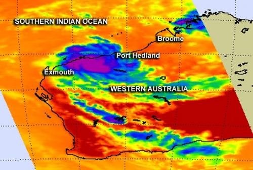 NASA catches the very brief life of Tropical Cyclone Peta