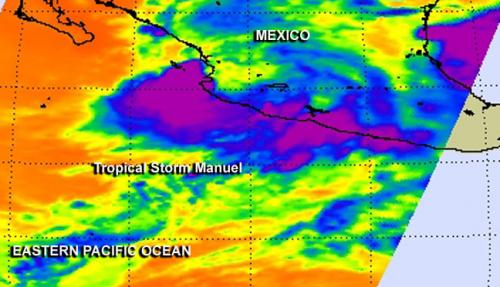 NASA saw Tropical Storm Manuel soak western Mexico