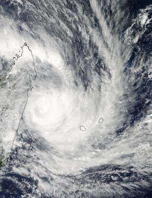 NASA sees cyclone felling squeeze between Madagascar and La Reunion