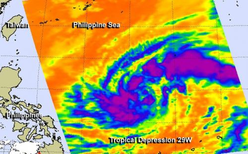 NASA sees newborn twenty-ninth Depression in the Philippine Sea