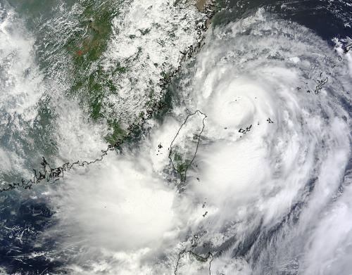 NASA sees Typhoon Trami passing Taiwan for China landfall